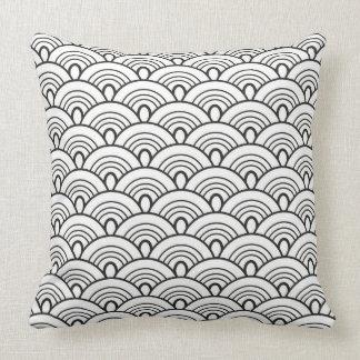 Doodles pattern Japan Throw Pillow
