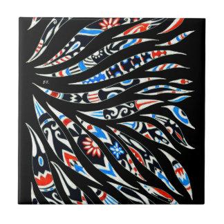 Doodles Scribble Black Pattern Tile