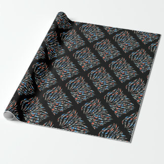 Doodles Scribble Black Pattern Wrapping Paper