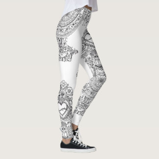 Doodles Skulls Tree leggins Leggings