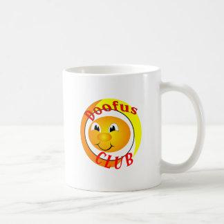 Doofus Club Classic White Coffee Mug