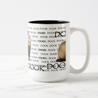 DOOKING FERRET Two-Tone COFFEE MUG
