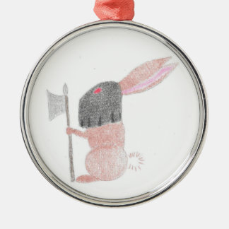 Doom Bunny Silver-Colored Round Ornament