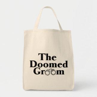 Doomed Groom Grocery Tote Bag