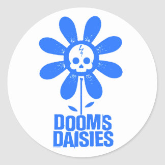 Dooms Daisies Classic Round Sticker