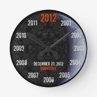 Doomsday 2012 Mayan Calendar Earth Full Face Clock