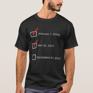 Doomsday Checklist - Black T-Shirt
