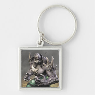 Doomsday Silver-Colored Square Keychain
