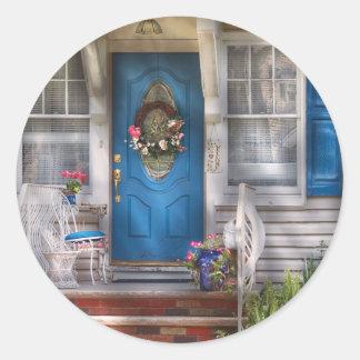 Door - A bit of blue Classic Round Sticker