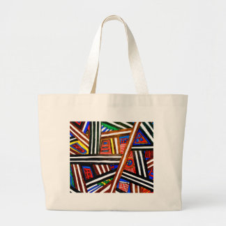 DOOR ABSTRACT LARGE TOTE BAG