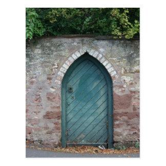 Door at Bishops Lydeard, Somerset, UK Postcard