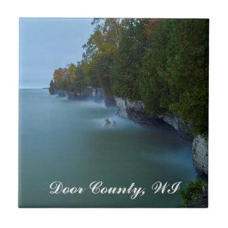 Door County Cave Point Cliffs Ceramic Tile