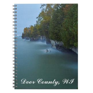 Door County Cave Point Cliffs Spiral Notebook