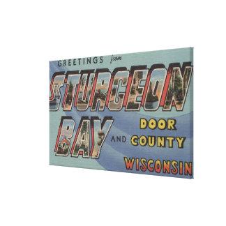 Door County - Large Letter Scenes Canvas Print