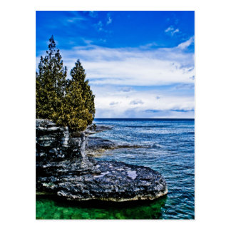 Door County Postcard, Cave Point Postcard