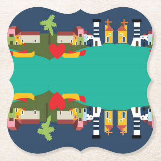 Door Cups Collection Rio Side by Soul House Paper Coaster