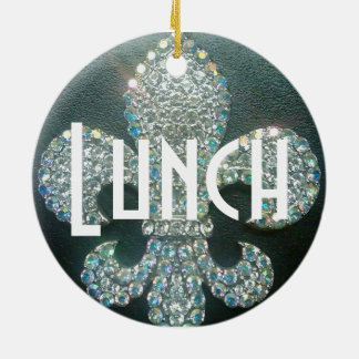 """Door Hanger """"Meeting/Lunch"""" Ceramic Ornament"""