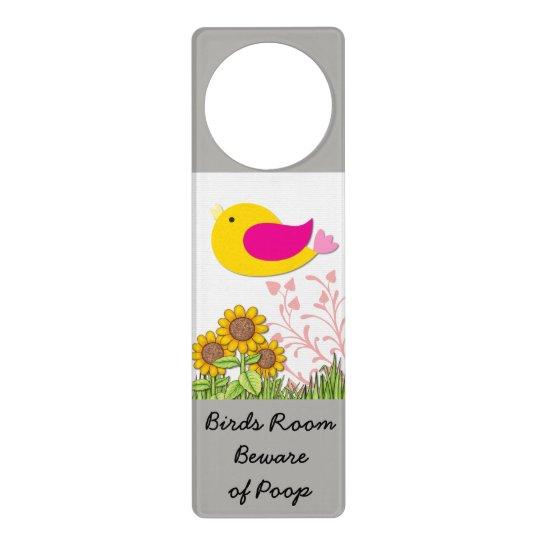 Door Hanger Sign for Birdies Room