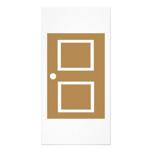 Door house photo card template