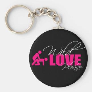 "Door-keys/Key Ring 5 cm - ""wild love please Keychain"
