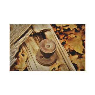 Door Knob and Leaves Canvas Print