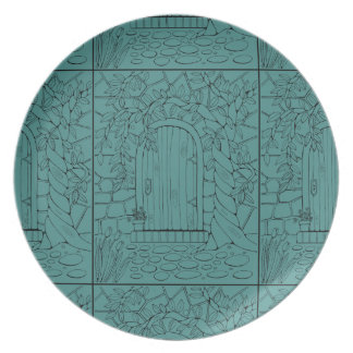 Door Line Art Design Plate