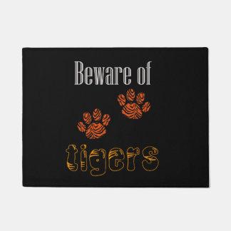 Door mat Beware of Tigers
