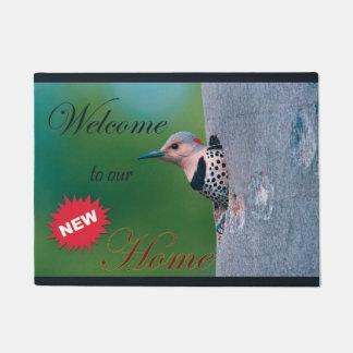 Door mat for new home