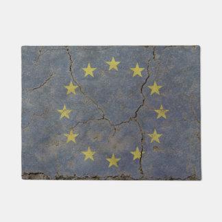 Door Mat print with vintage flag of EU