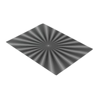 Door Mat  Rays in Black and White