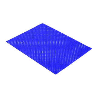 Door Mat Royal Blue with White Dots