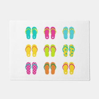 Door mat with Beach sandals