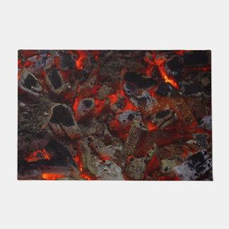 Door Mat with Blaze of bonfire