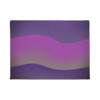Door Mats Modern Art Design Shades of Purple