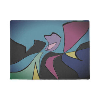 Door Mats Original Art Design Deep Multi-colored