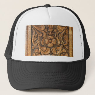 door patern trucker hat