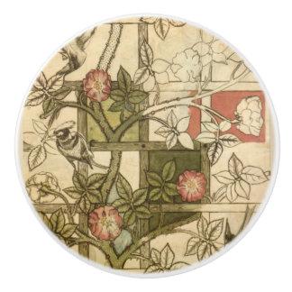 Door pulls with Trellis design by William Morris Ceramic Knob