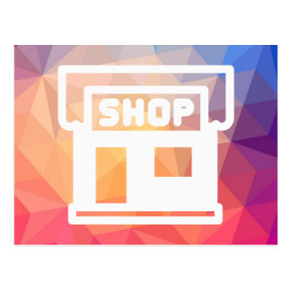 Door Shops Pictograph Postcard