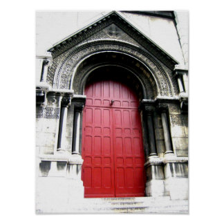 Door to Sacre Coeur Poster