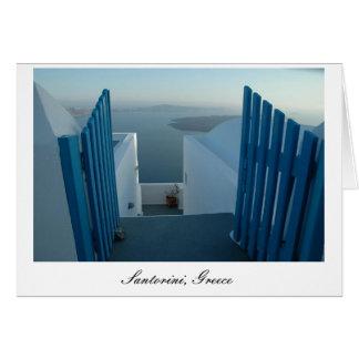 Door to Santorini Card
