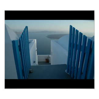 Door to Santorini Poster
