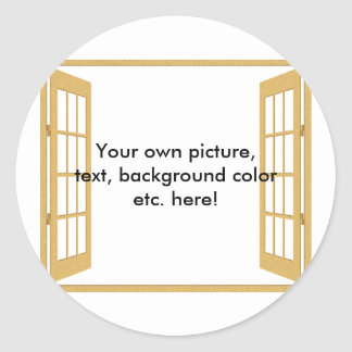 Door/Window to/from Anywhere Classic Round Sticker