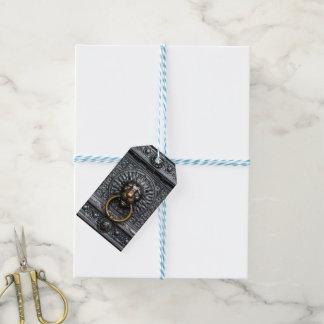 Doorknocker Lion - Black / Gold Gift Tags