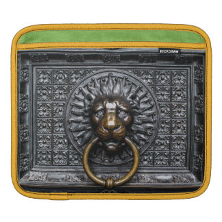 Doorknocker Lion - Black / Gold iPad Sleeve