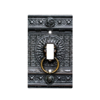 Doorknocker Lion - Black / Gold Light Switch Cover
