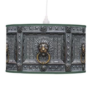 Doorknocker Lion - Black / Gold Pendant Lamp