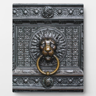 Doorknocker Lion - Black / Gold Plaque