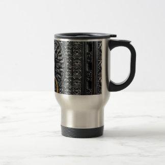 Doorknocker Lion - Black / Gold Travel Mug