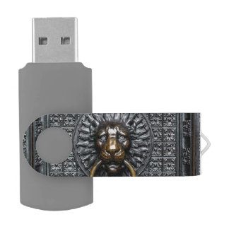 Doorknocker Lion - Black / Gold USB Flash Drive