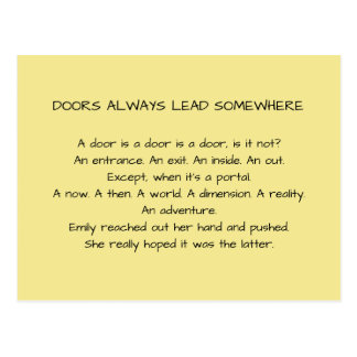 Doors Always Lead Somewhere Postcard